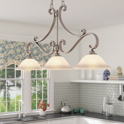 Enfield Kitchen Island Pendant Finish: Brushed Nickel