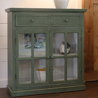 Charters Towers 2 Door Accent Cabinet Color: Simplicity Green