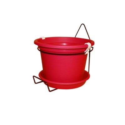 Gefen Plastic Wall Planter Color: Red