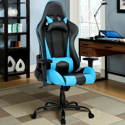 Racing Gaming Chair Color: Blue