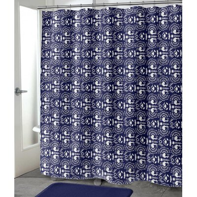 "Deidra Shower Curtain Size: 90"" H x 70"" W"