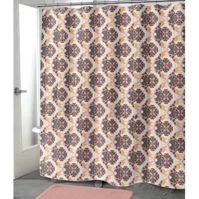 """Ginnia Shower Curtain Size: 90"""" H x 70"""" W"""