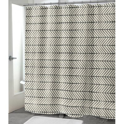 "Diana Shower Curtain Size: 72"" H x 70"" W"