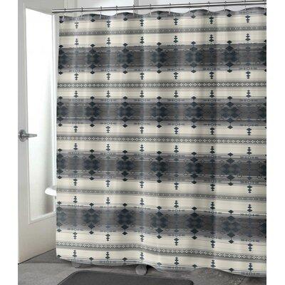 "Balcom Shower Curtain Size: 90"" H x 70"" W, Color: Charcoal"