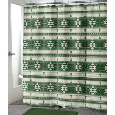 "Balcom Shower Curtain Size: 72"" H x 70"" W, Color: Green"