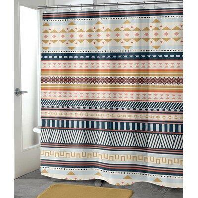 "Julius Shower Curtain Size: 90"" H x 70"" W"