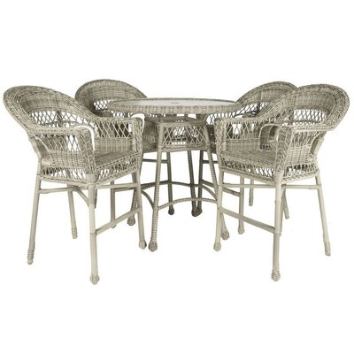 Ring 5 Piece Bar Height Dining Set Color: Driftwood