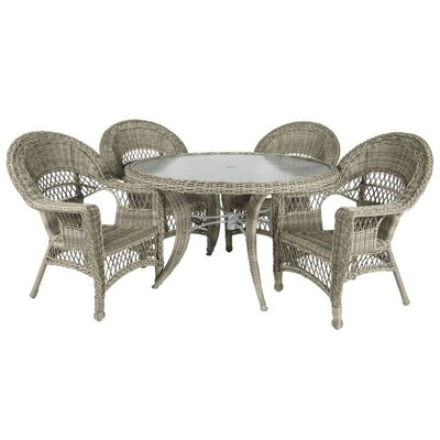 Ring 5 Piece Dining Set Color: Driftwood