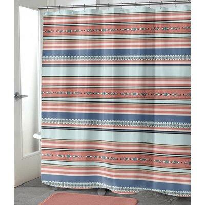 """Colten Shower Curtain Size: 72"""" H x 70"""" W, Color: Orange"""