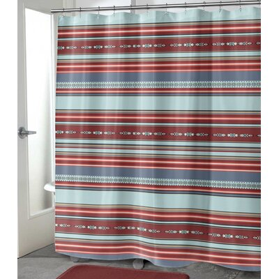 """Colten Shower Curtain Size: 72"""" H x 70"""" W, Color: Red"""