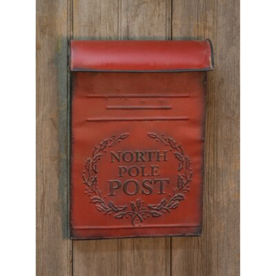 North Pole Post Box Wall Mounted Mailbox
