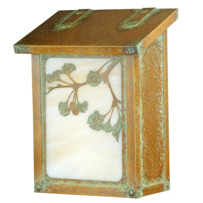 Ginkgo Wall Mounted Mailbox Finish: Architectural Bronze, Glass Color: Honey