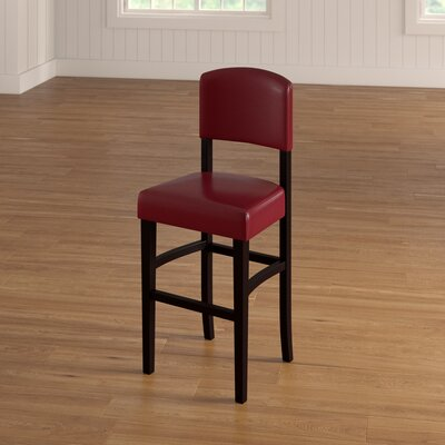 """Caldwell Bar & Counter Stool Seat Height: Counter Stool (24.17"""" Seat Height), Color: Red"""