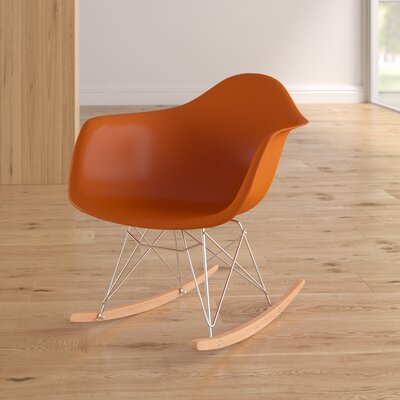 Altarichard Rocking Chair Frame Color: Orange