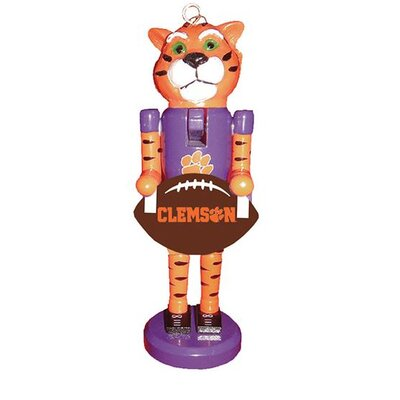 Football Nutcracker Ornament NCAA Team: Clemson University