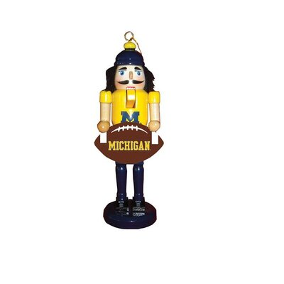 Football Nutcracker Ornament NCAA Team: University of Michigan
