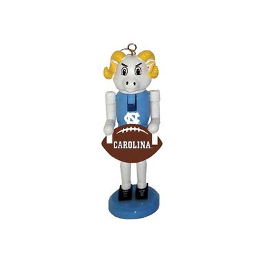 Football Nutcracker Ornament NCAA Team: University of North Carolina, Chapel Hill