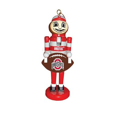 Football Nutcracker Ornament NCAA Team: The Ohio State University