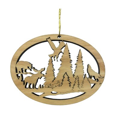 Wildlife Oval Ornamente Hanging Figurine