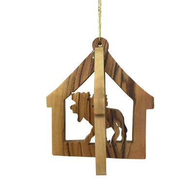 3D Moose Ornament Hanging Figurine