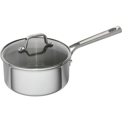 1 qt. Tri-Ply Stainless Steel Sauce Pan with Lid Size - Capacity: 3 qt