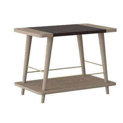 Beacher Convenience Stackable Wood Storage Bench Color: Light Oak