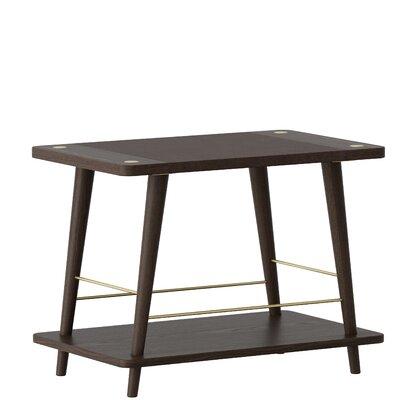 Beacher Convenience Stackable Wood Storage Bench Color: Dark Oak