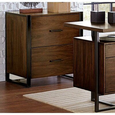 Lillian Wood/Metal 2 Drawer Accent Chest