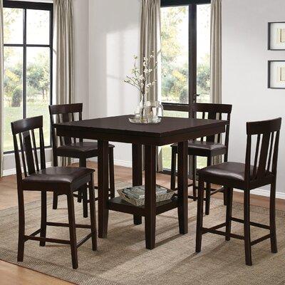 Wooden 5 Piece Counter Height Breakfast Nook Dining Set