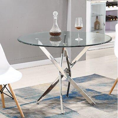 Monahan Dining Table Base Color: Sliver