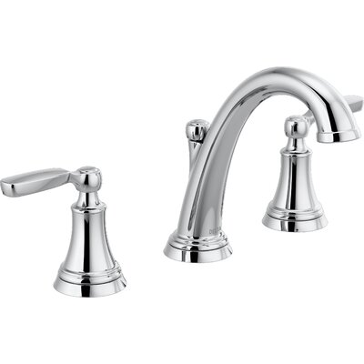 Woodhurst Widespread Bathroom Faucet with Drain Assembly Finish: Chrome
