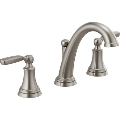 Woodhurst Widespread Bathroom Faucet with Drain Assembly Finish: Stainless Steel