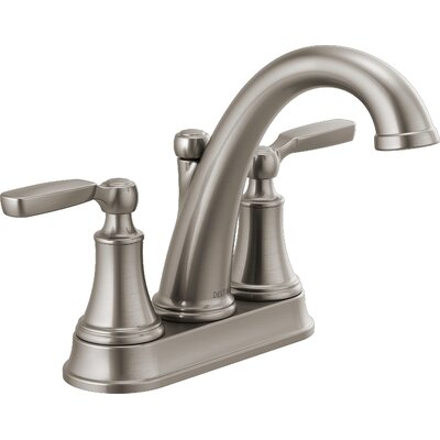 Woodhurst Centerset Bathroom Faucet with Drain Assembly Finish: Stainless Steel, Model: TP