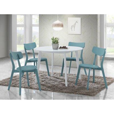 Tre 5 Piece Dining Set Chair Color: Blue