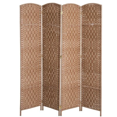 Roche Room Divider Color: Natural Wood, Number of Panels: 4