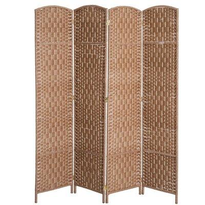 Roche Room Divider Color: Natural Wood, Number of Panels: 4