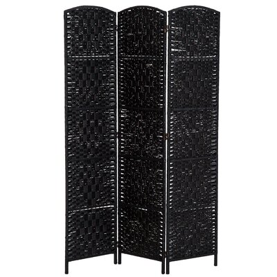 Roche Room Divider Color: Black, Number of Panels: 3