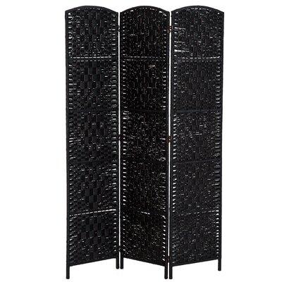 Roche Room Divider Color: Black, Number of Panels: 3