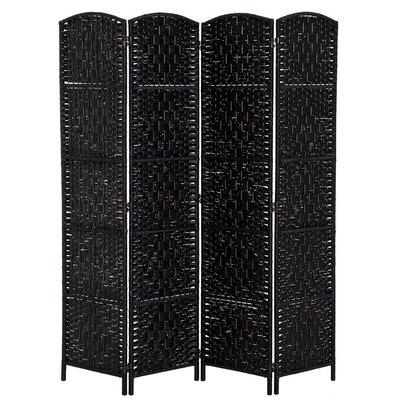 Roche Room Divider Color: Black, Number of Panels: 4