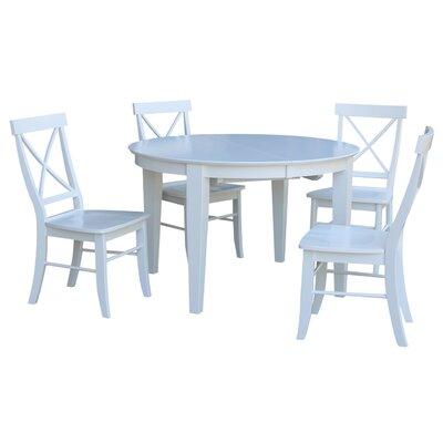 Aston 5 Piece Extendable Dining Set