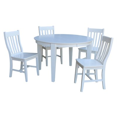 Romulus 5 Piece Extendable Dining Set