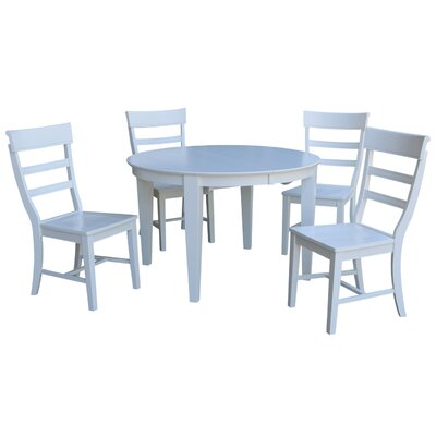Liev 5 Piece Extendable Dining Set