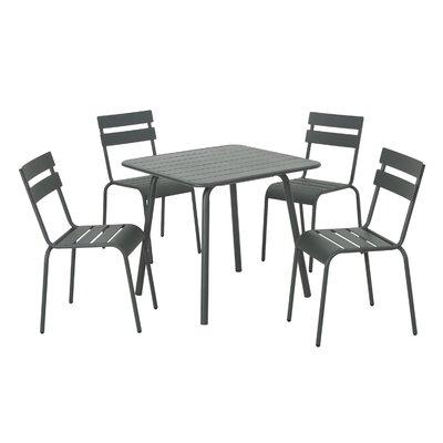 Nader 5 Piece Dining Set Color: Gray