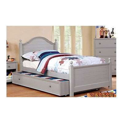 Sweet Platform Bed with Trundle Size: Twin, Bed Frame Color: Gray