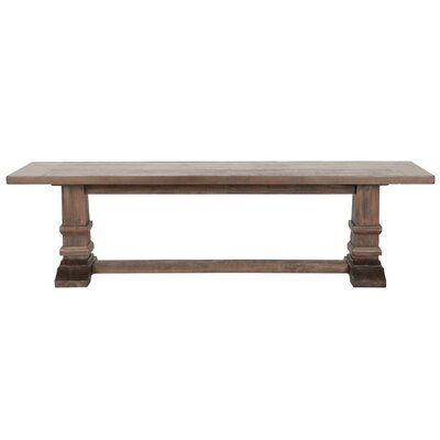 Cleo Wooden Large Wood Dining Bench Color: Rustic Java Brown