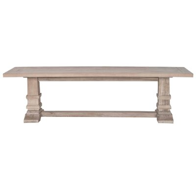 Cleo Wooden Large Wood Dining Bench Color: Stone Wash Brown