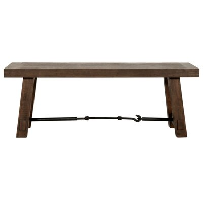 Axel Wooden Dining Bench Color: Rustic Java Brown