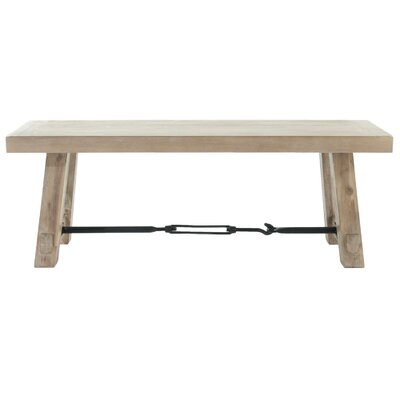 Axel Wooden Dining Bench Color: Stone Wash Brown