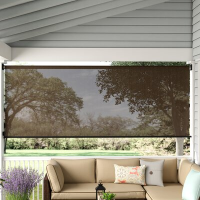 "Sun Roll-Up Sheer Solar Shade Size: 120"" W x 72"" L, Color: Espresso"