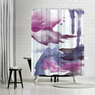 Amy Brinkman Spring Light Blue Green Shower Curtain